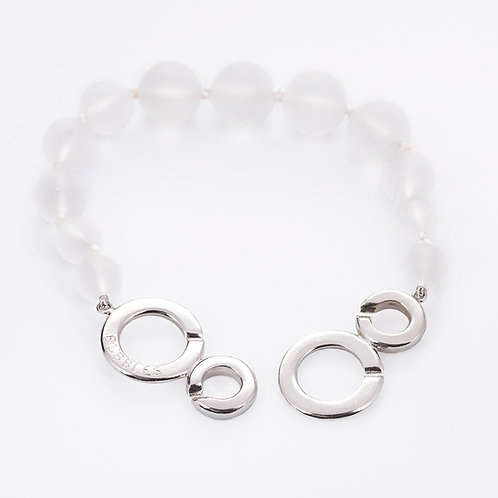 Bubbles bracelet with rock crystal stones