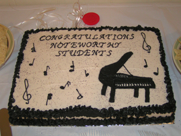 Honors Recital Cake