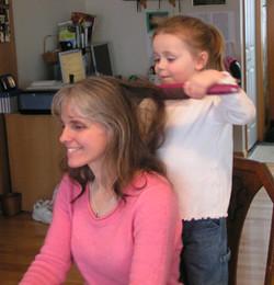 Brushing Grammy's Hair