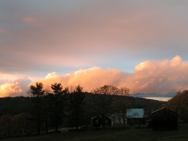 Clouds rolling over the hills