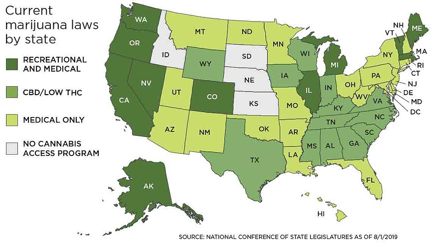 Cannabis Marijuana Laws By State