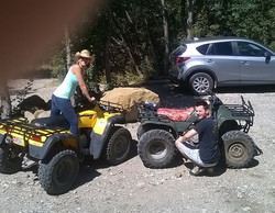 Spending the day with my son at the cabin! Lets ride!!!