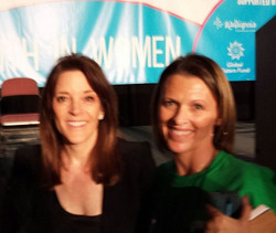 Marianne Williamson and I at the Parliament of worlds religions sharing stories! I love this lady!