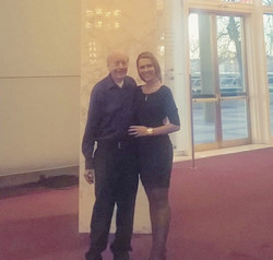 Nicole Ashton and Dr Jim Cox at The Kennedy Center