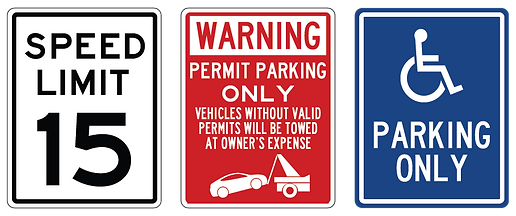 Irvine CA Parking Lot Signs Cheap