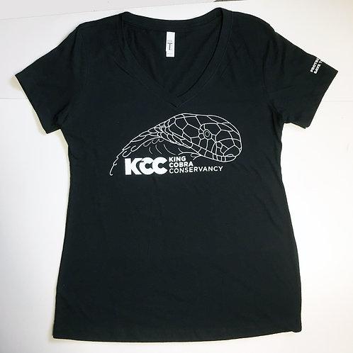 Woman's KCC V-Neck T-shirt King Front