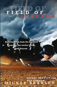 Field of Screams: Haunted Tales from the Baseball Diamond, the Locker Room and Beyond. The follow up to Haunted Baseball: Ghosts, Curses, Legends and Eerie Events. Both are collections of ghost stories from ballparks and hotels, and curses beyond the Boston Red Sox and Chicago Cubs. Readers learn the surprising truth about the buried David Ortiz jersey and ghost stories from haunted ballparks including Yankee Stadium, Wrigley Field, Dodger Stadium, Fenway Park, Angels Stadium, Tiger Stadium, and many more. Readers will enjoy ghost stories surrounding Babe Ruth, Roberto Clemente and Ty Cobb, along with haunted baseball venues in Japan and Latin America.