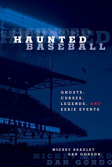 "Haunted Baseball: Ghosts, Curses, Legends and Eerie Events exploes stories of ghosts, curses, legends, superstitions and eerie events. A collection of ""otherworldly"" stories gathered from players, stadium personnel, umpires, front-office folks, and fans, ""Haunted Baseball"" explores the sometimes amusing, sometimes poignant, sometimes spooky connection between baseball and the paranormal. From haunted stories from the Pfister Hotel and Renaissance Vinoy to ghost stories from Dodger Stadium, Yankee Stadium, Progressive Field, Petco Park, Fenway Park, Tropicana Field, the Rogers Centre and many other haunted ballparks and baseball sites. Haunted Baseball also captures curse stories from the famous Chicago Cubs Curse of the Billy Goat to a player curse on Jose Lima to  to clubhouse poltergeists to departed Hall-of-Famers who don't know the game is over, ""Haunted Baseball"" is full of fun, quirky stories that will please skeptics and believers alike."