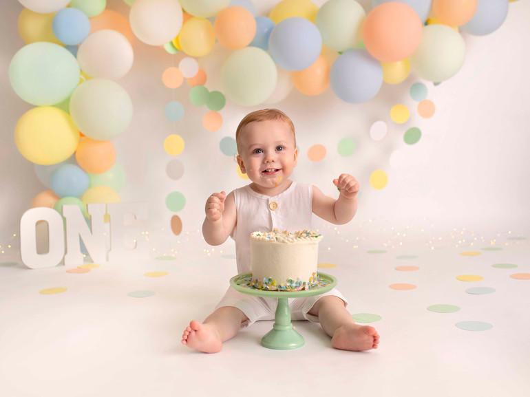 Beckett's  1st Birthday Cake Smash | Medina, Ohio Cake Smash Session