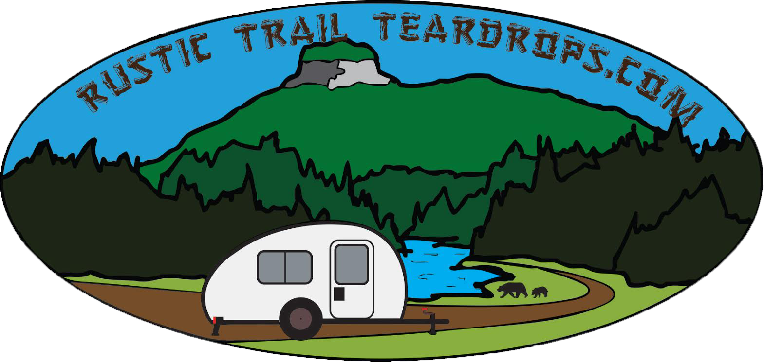 KODIAK STEALTH | Rustic Trail Teardrop Campers