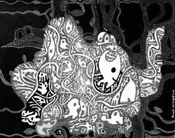 Série_Le_vivant_Les_Villes,_sans_titre_0,_acrylique_sur_papier,_50x65cm,_Ricardo_OZL,_2013_,©G.GERMA