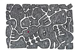 Série_les_signes,_sans_titre_6,_acrylique_sur_papier,_60x80cm,_Ricardo_OZL,_2018_,©G.GERMAIN_