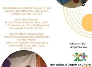 Nou taller de Psicomotricitat, Descoberta i Acompanyament en família