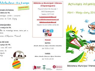 Activitats a la Biblioteca l'Ateneu (abril-maig-juny)