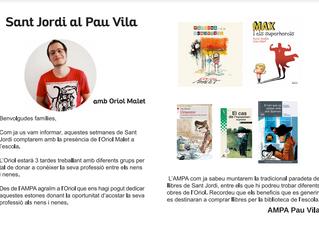 Sant Jordi al Pau Vila, amb l'Oriol Malet