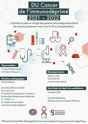 Affiche DU Cancer de l'immunodéprimé 202