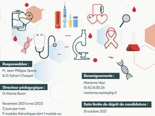 Ouverture des inscriptions du DU Cancer de l'immunodéprimé 2021-2022