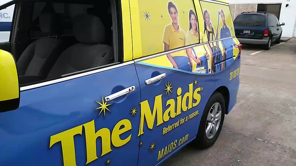 Maids Full Van Wrap with Window Perforated Vinyl