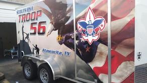 14 Ft. Boy Scout Trailer Wrap