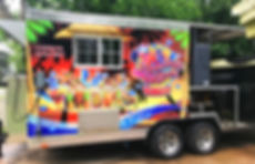 food trailer with flamingo in houston