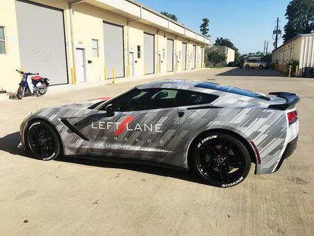 Corvette Stingray Digital Camo Car Wrap