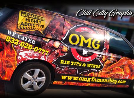 OMG Famous BBQ Van Wrap
