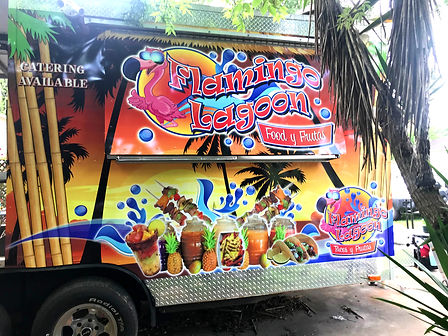 flamingo lagoon food trailer