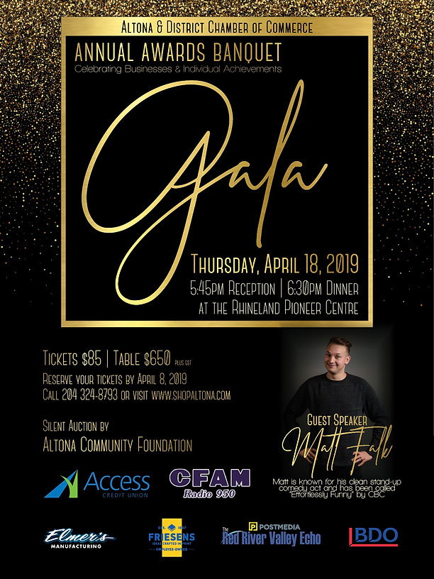2019 Chamber Award Gala - POSTER with Sp