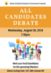 Provincial Candidate Debate Poster - 201