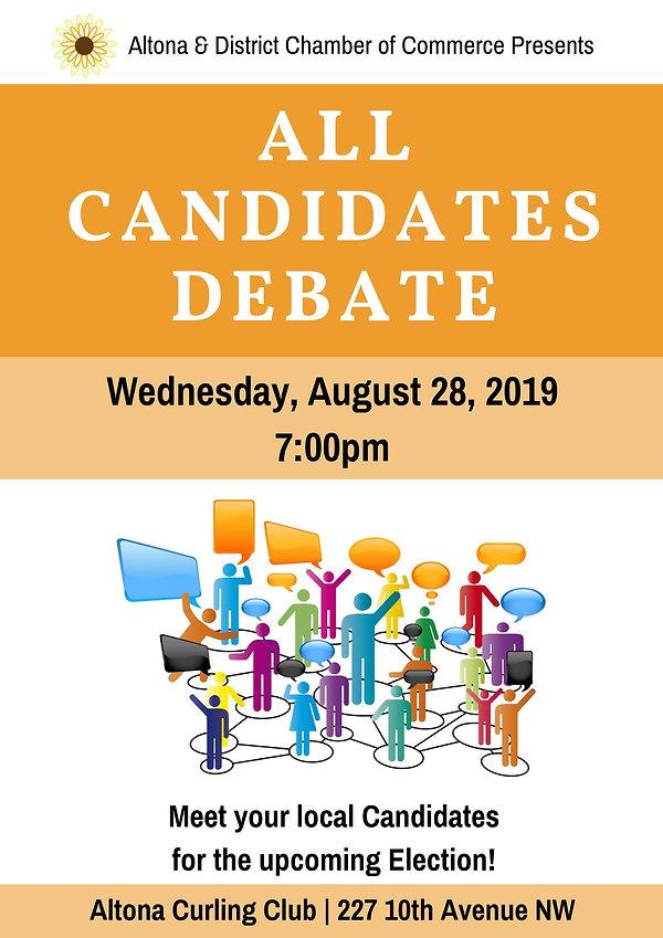 Provincial Candidate Debate Poster - 201