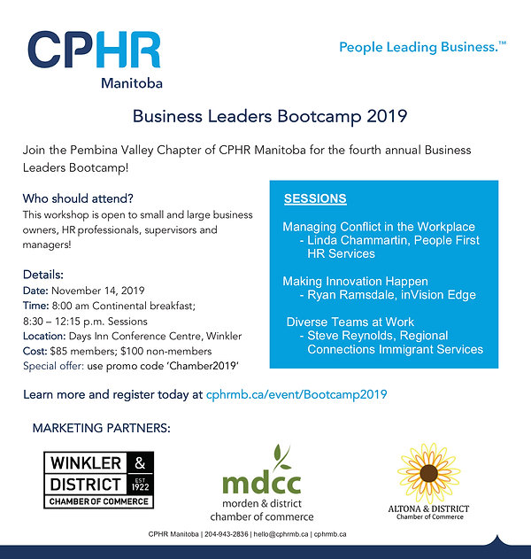 2019 Business Leaders Bootcamp - Poster.