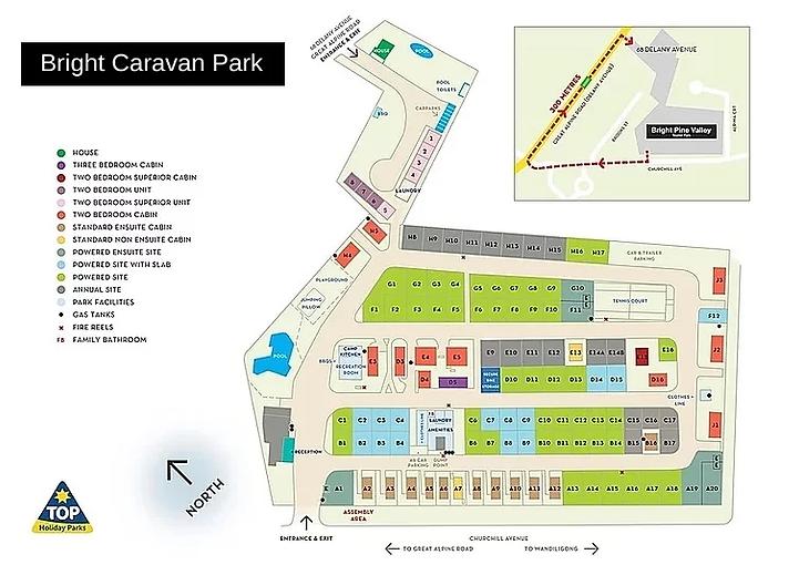 Bright Caravan Park Map.webp
