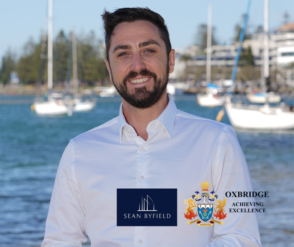 Sean Byfield, real estate agent with Oxbridge Property Group featured on Brilliant Online Magazine