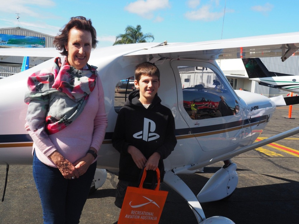 Leslie Williams and this young boy officially opened the new HDFC hangar, Feature story by Brilliant-Online