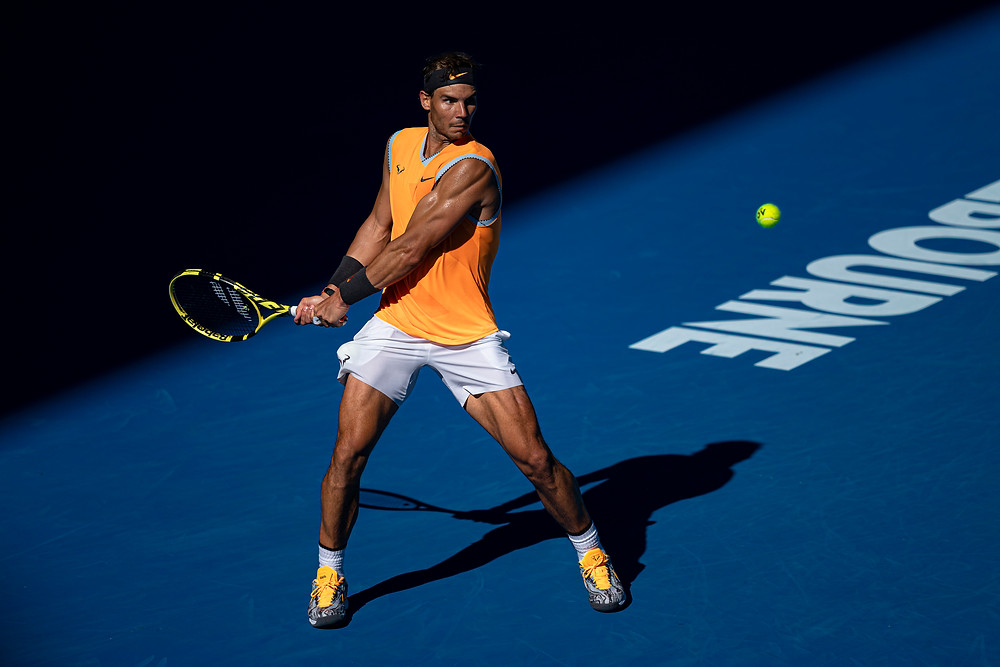 Andy Cheung - Rafael NADAL of Spain at the 2019 Australian Open Tennis Championship Day 7  Match at Melbourne Park Tennis Centre, Melbourne, Australia. 20 Jan 2019. Arck Photography, Feature story by Brilliant-Online