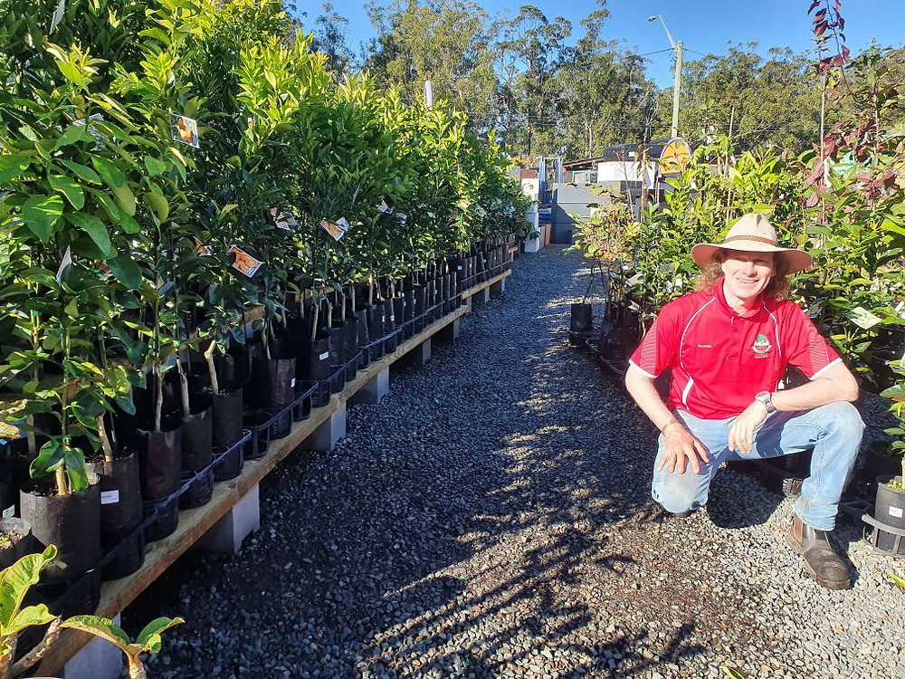 Daniel 'Chook' Fowler, happy employee of Greenbourne Nursery,Greenbourne Nursery, Wauchope, feature story by Brilliant-Online