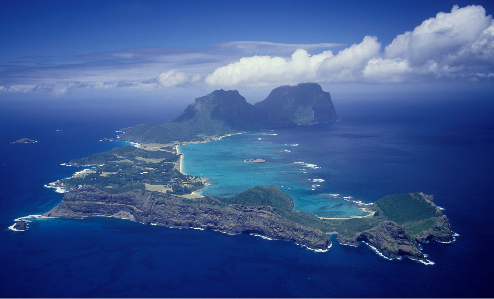 Brilliant Travel of Wauchope, Aerial View of Lord Howe Island, feature story by Brilliant-Online