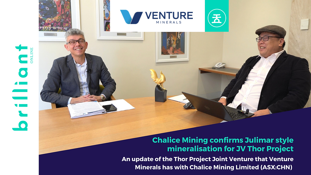 Andrew Radonjic, Noel Ong, Brilliant Investments with Venture Minerals, feature by Brilliant-Online