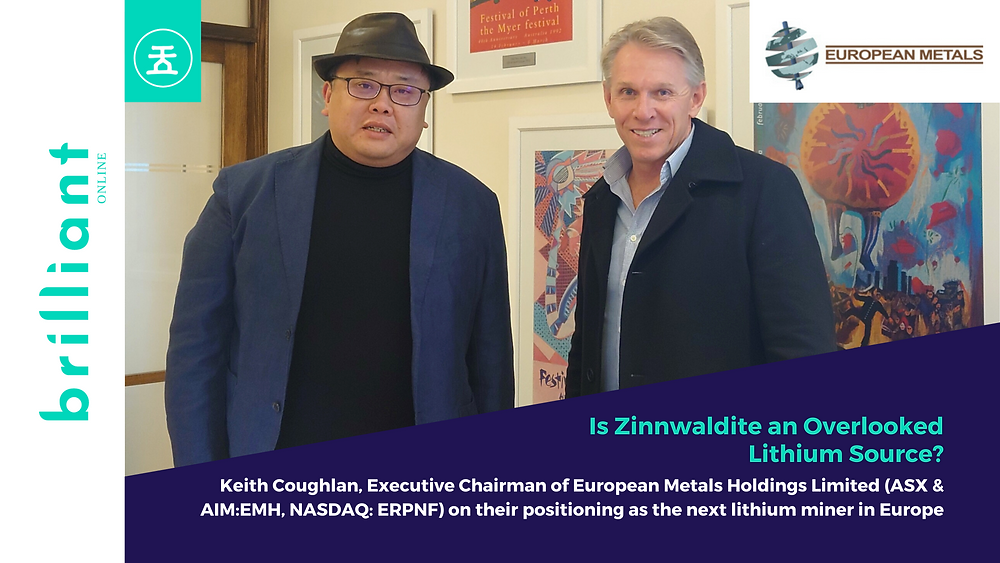 Keith Coughlan, Executive Chairman of European Metals Holdings Limited (ASX & AIMEMH, NASDAQ ERPNF), Coffee with Samso, Brilliant-Online Investments