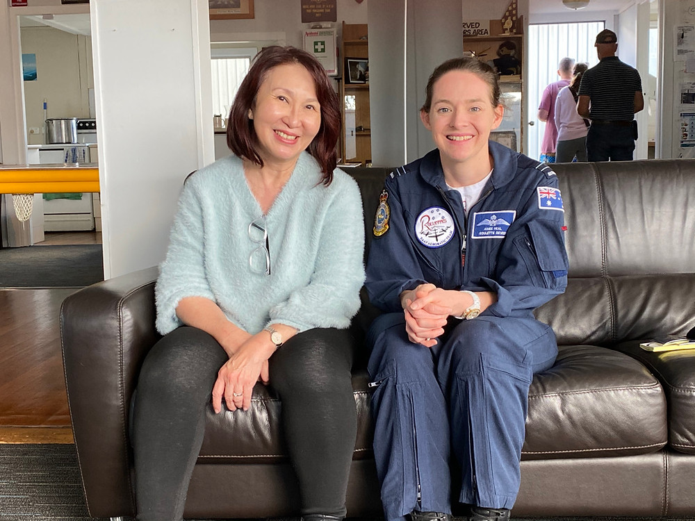 Veronica Lind talks with Aimee Heal at HDFC Open Day, RAAF, feature story by Brilliant-Online