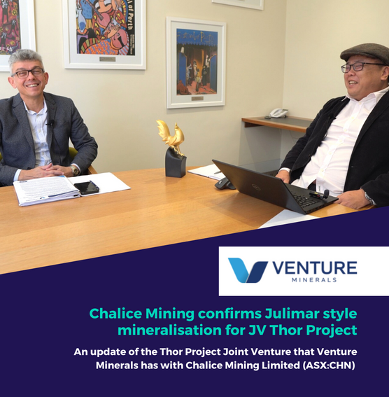 Chalice Mining Confirms Julimar-style Mineralisation for JV Thor Project