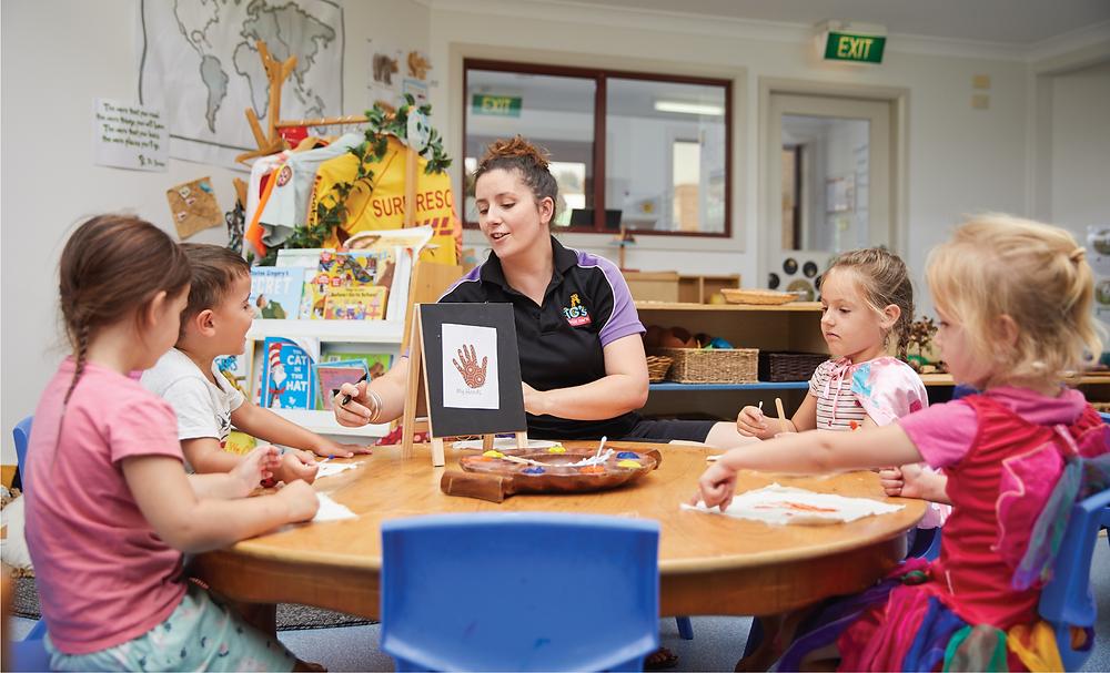TG's Childcare Kindergarten Children Learning in Classroom