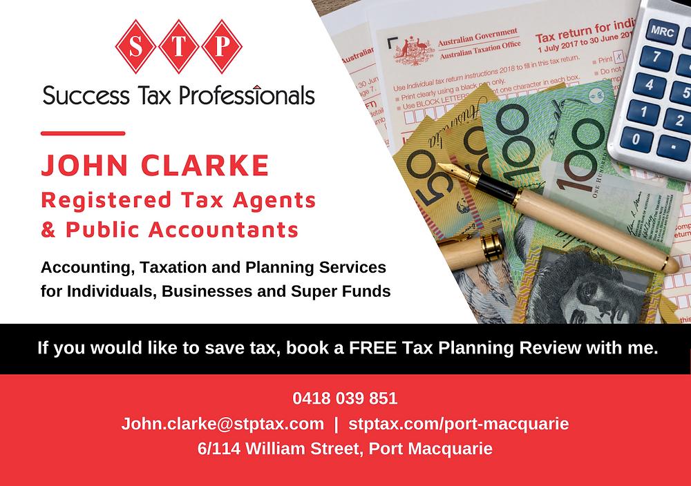 John Clarke, Success Tax Professionals, Port Macquarie, STPTAX, Brilliant-Online