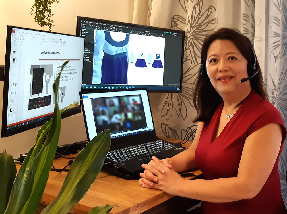 Tanya Tan conducts training for aspiring fashion designers on using CLO 3D software, feature story by Brilliant-Online