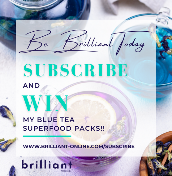 Suscribe and Win, Brilliant-Online, My Blue Tea.png