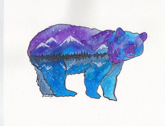Lanscape Bear Prints