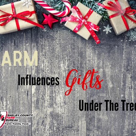 Farm influences gifts under the tree