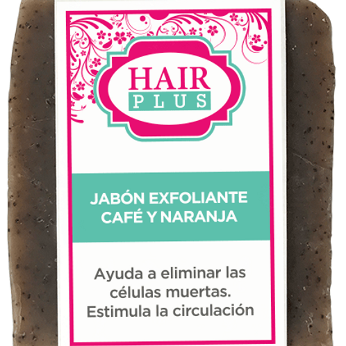 JABÓN EXFOLIANTE CAFE Y NARANJA