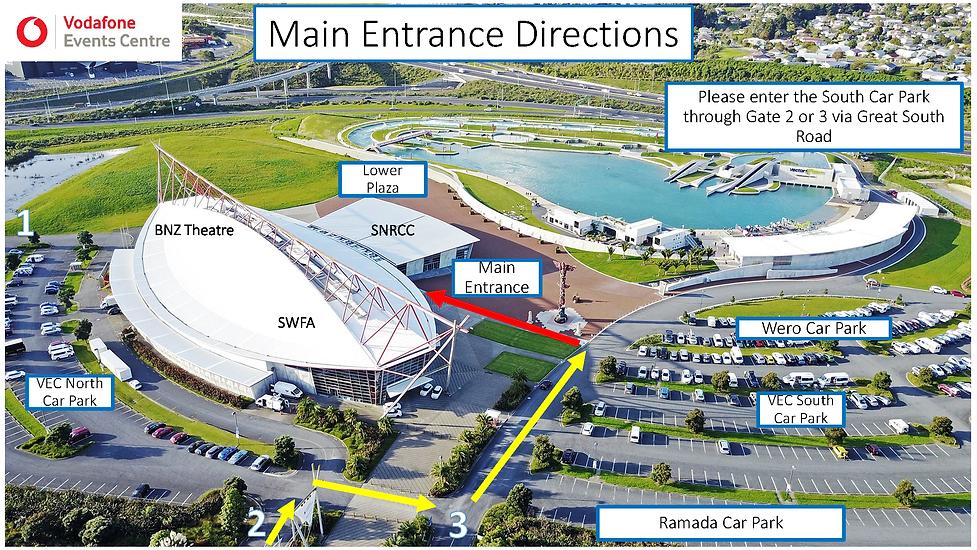 Main Entrance Directions - VEC Floor Pla