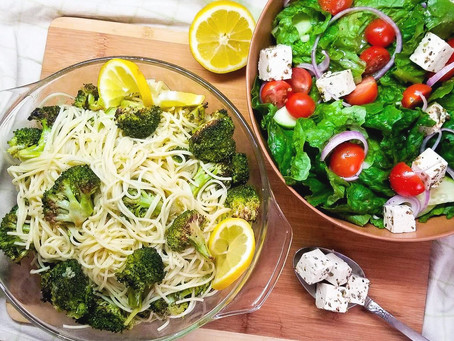 Easy Vegan Broccoli and Garlic Pasta